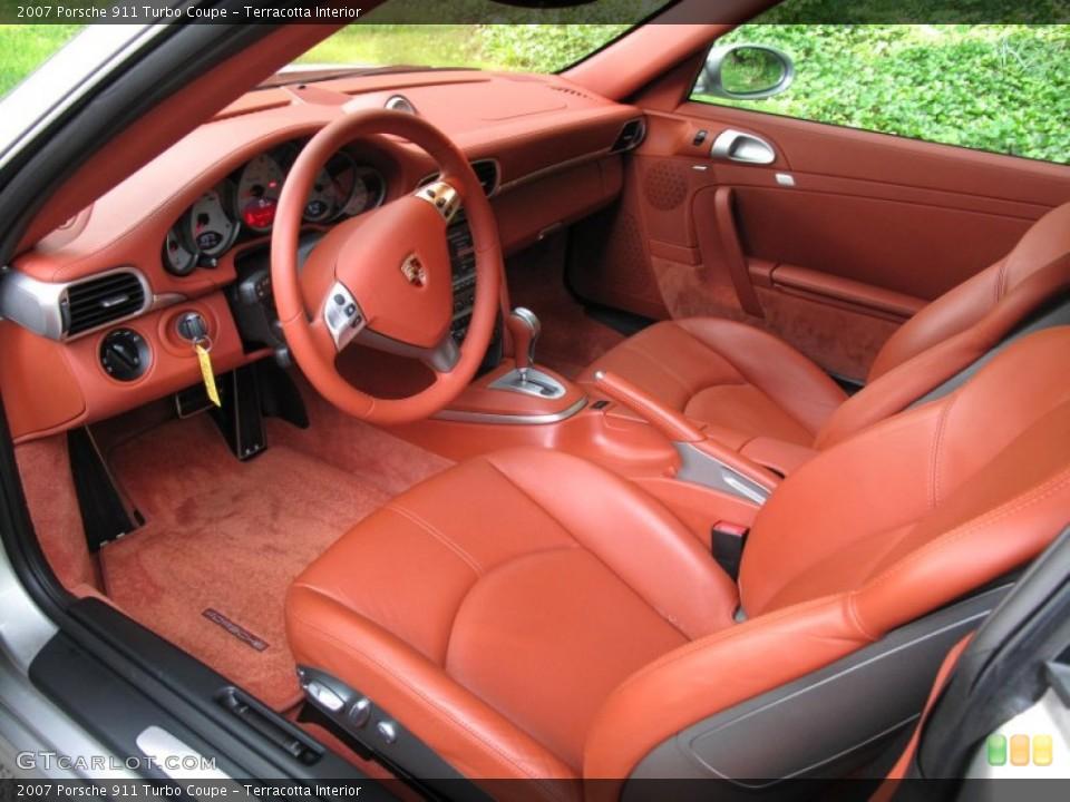 Terracotta Interior Photo for the 2007 Porsche 911 Turbo Coupe #50025916