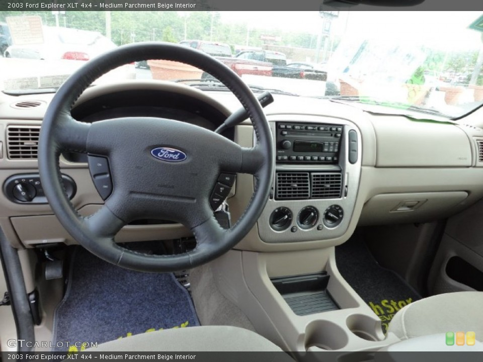 Medium Parchment Beige Interior Dashboard for the 2003 Ford Explorer XLT 4x4 #50033792