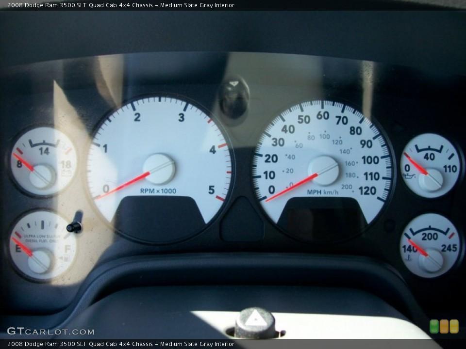 Medium Slate Gray Interior Gauges for the 2008 Dodge Ram 3500 SLT Quad Cab 4x4 Chassis #50149132