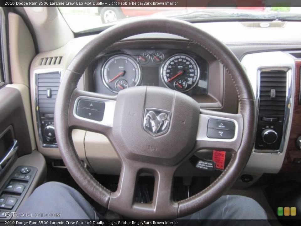 Light Pebble Beige/Bark Brown Interior Steering Wheel for the 2010 Dodge Ram 3500 Laramie Crew Cab 4x4 Dually #50178524