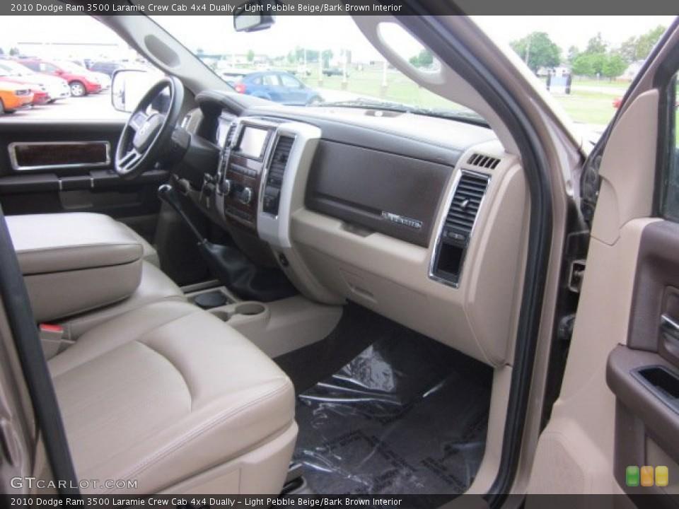 Light Pebble Beige/Bark Brown Interior Photo for the 2010 Dodge Ram 3500 Laramie Crew Cab 4x4 Dually #50178599