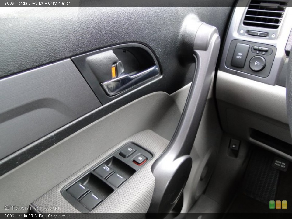 Gray Interior Controls for the 2009 Honda CR-V EX #50300271