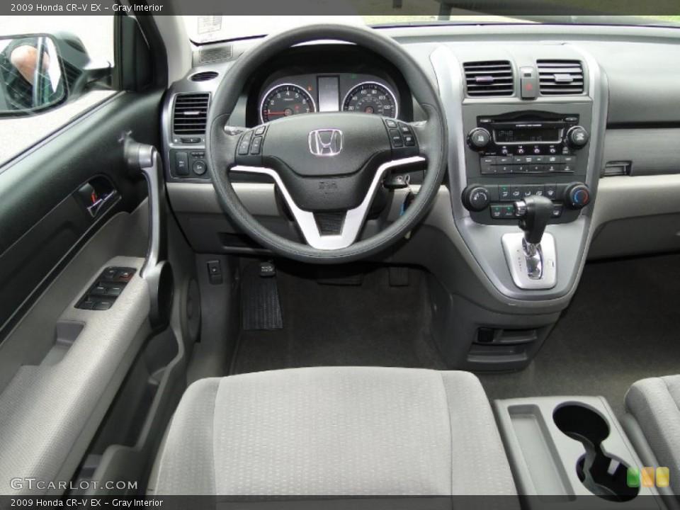 Gray Interior Dashboard for the 2009 Honda CR-V EX #50300337