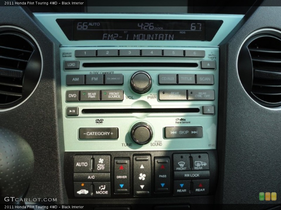 Black Interior Controls for the 2011 Honda Pilot Touring 4WD #50368275