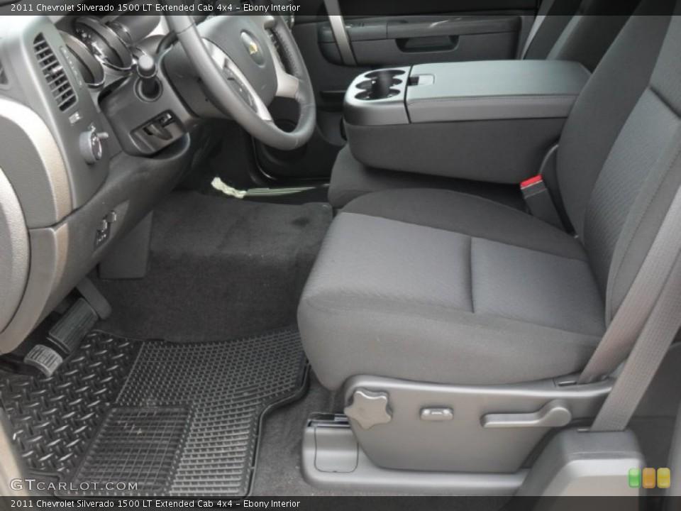 Ebony Interior Photo for the 2011 Chevrolet Silverado 1500 LT Extended Cab 4x4 #50376622