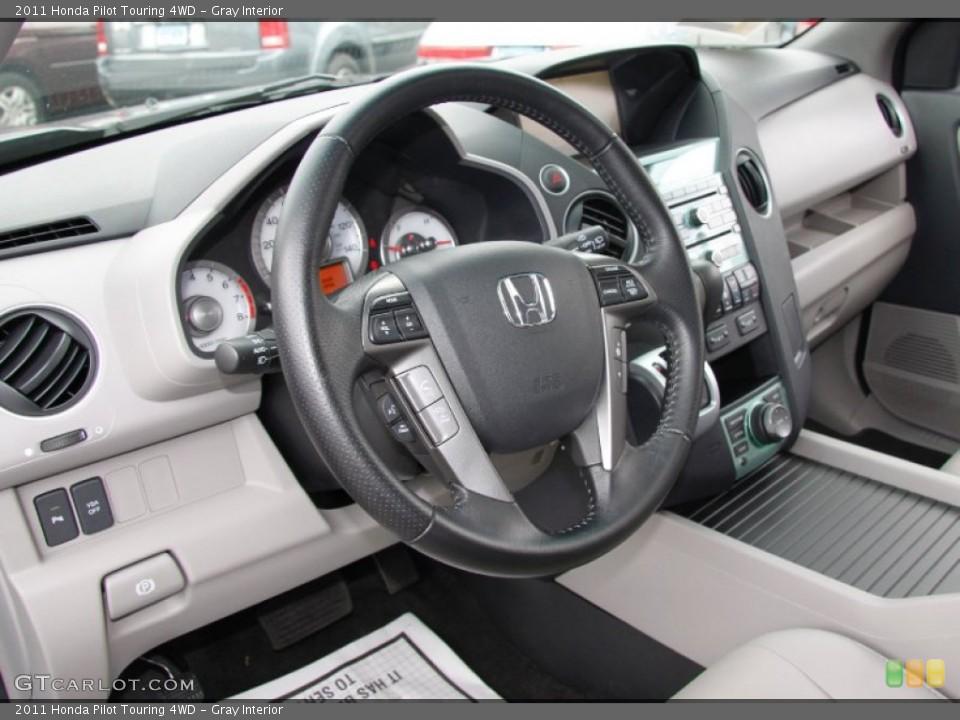 Gray Interior Steering Wheel for the 2011 Honda Pilot Touring 4WD #50453162