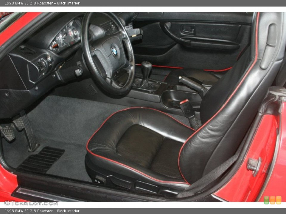 Black Interior Photo for the 1998 BMW Z3 2.8 Roadster #50482384