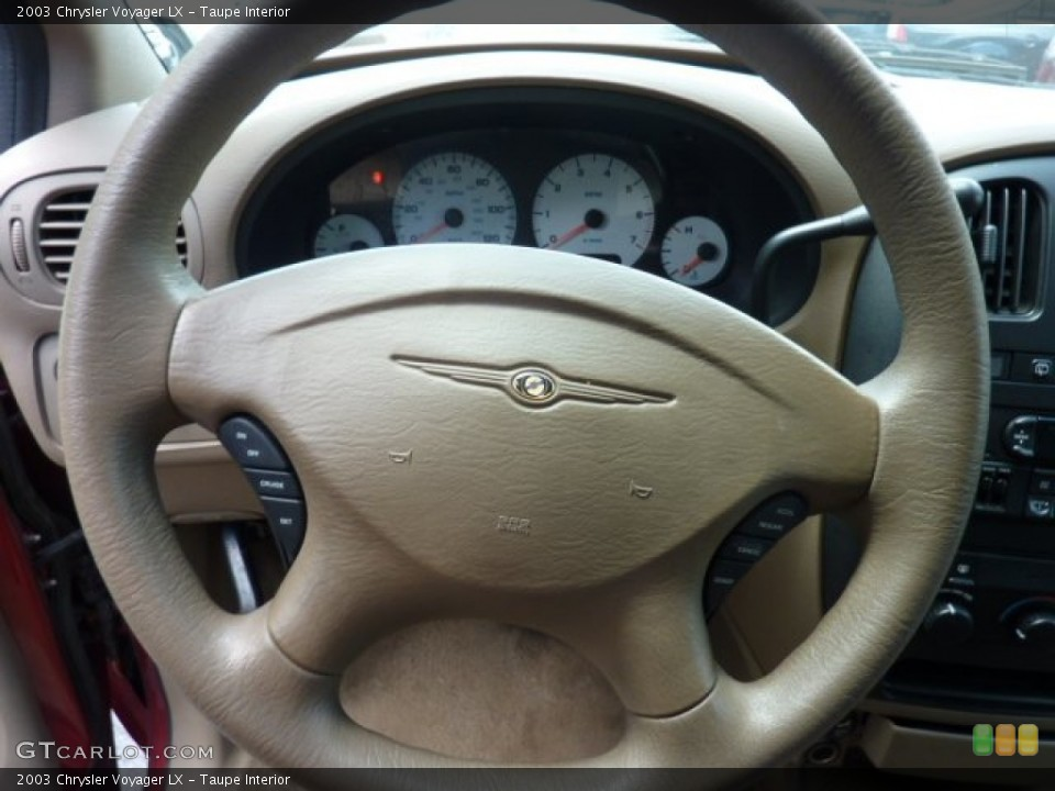 Taupe Interior Steering Wheel for the 2003 Chrysler Voyager LX #50504143