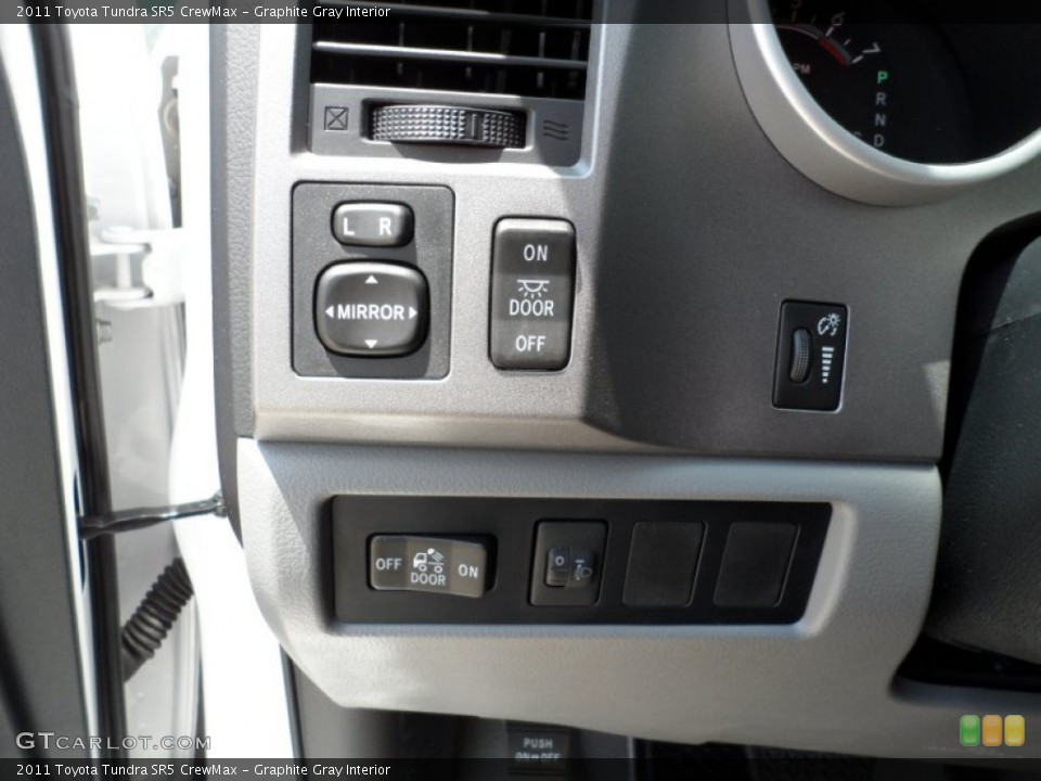Graphite Gray Interior Controls for the 2011 Toyota Tundra SR5 CrewMax #50508745