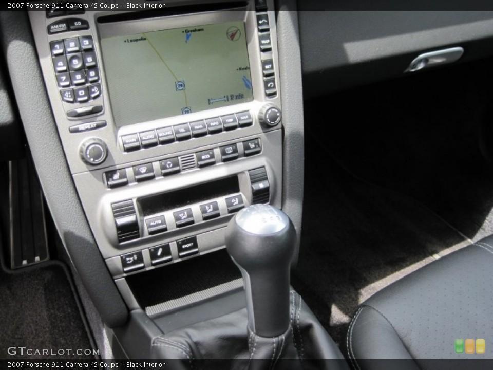 Black Interior Controls for the 2007 Porsche 911 Carrera 4S Coupe #50528703