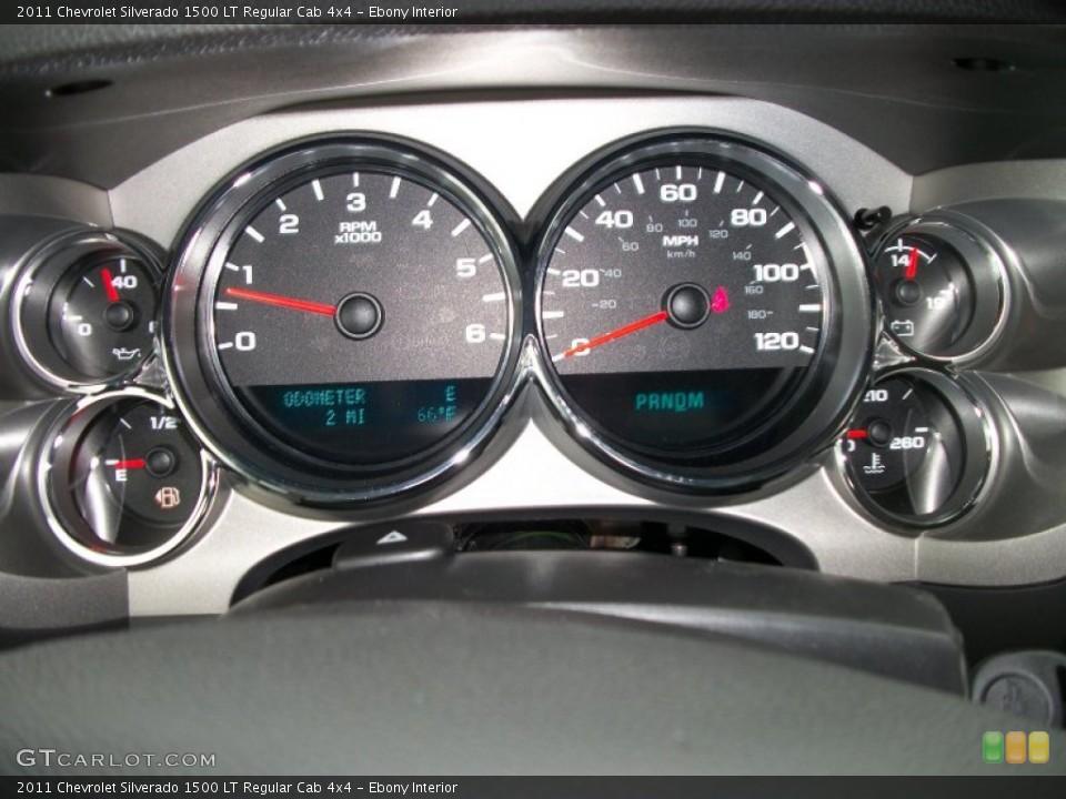 Ebony Interior Gauges for the 2011 Chevrolet Silverado 1500 LT Regular Cab 4x4 #50603183