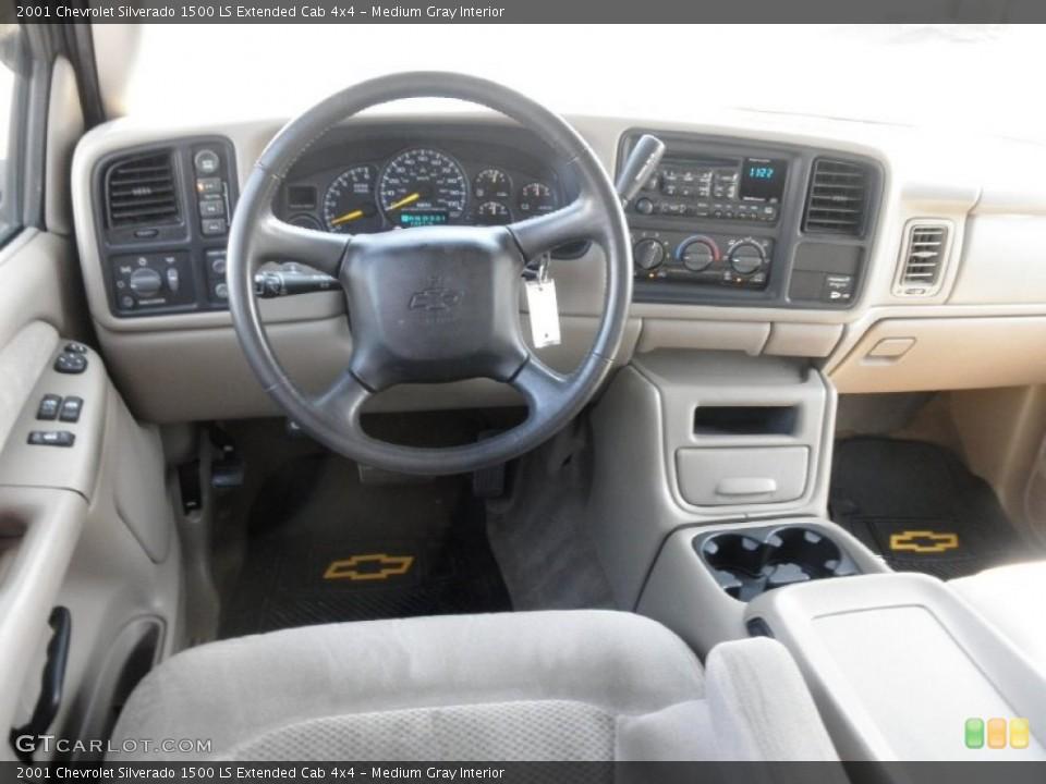 Medium Gray 2001 Chevrolet Silverado 1500 Interiors