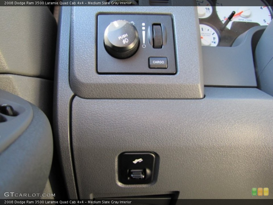 Medium Slate Gray Interior Controls for the 2008 Dodge Ram 3500 Laramie Quad Cab 4x4 #50911465