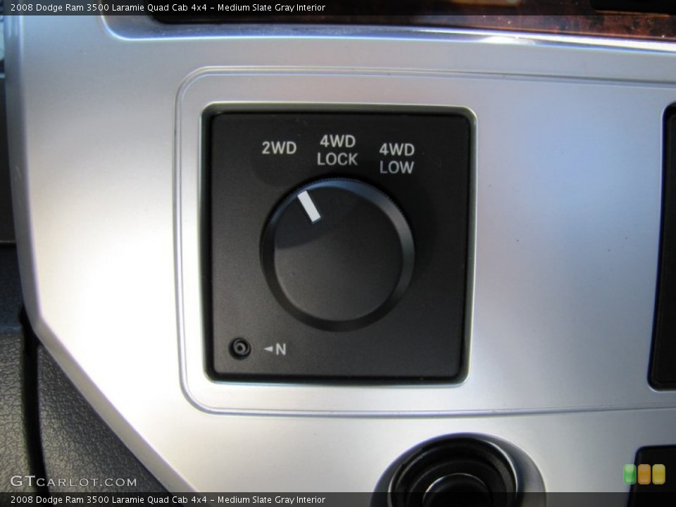 Medium Slate Gray Interior Controls for the 2008 Dodge Ram 3500 Laramie Quad Cab 4x4 #50911468