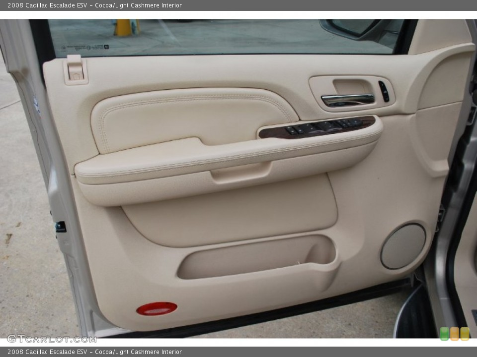 Cocoa/Light Cashmere Interior Door Panel for the 2008 Cadillac Escalade ESV #50946333