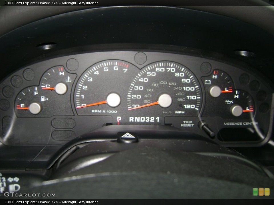 Midnight Gray Interior Gauges for the 2003 Ford Explorer Limited 4x4 #50989274