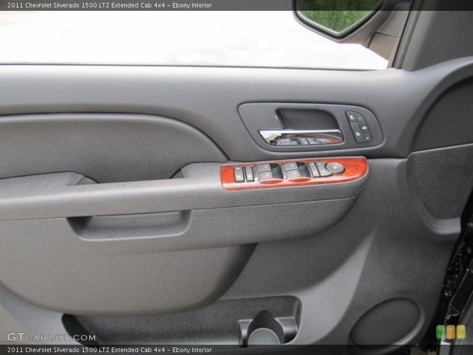Ebony Interior Door Panel for the 2011 Chevrolet Silverado 1500 LTZ Extended Cab 4x4 #51001006