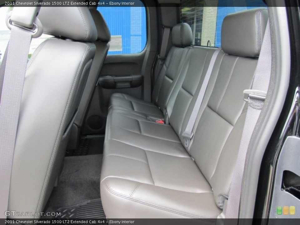 Ebony Interior Photo for the 2011 Chevrolet Silverado 1500 LTZ Extended Cab 4x4 #51001033