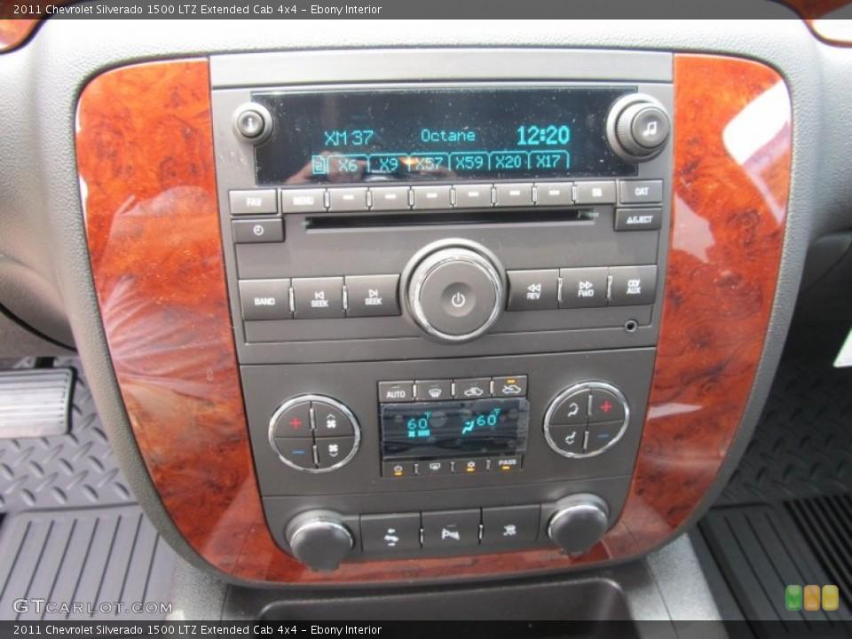Ebony Interior Controls for the 2011 Chevrolet Silverado 1500 LTZ Extended Cab 4x4 #51001063