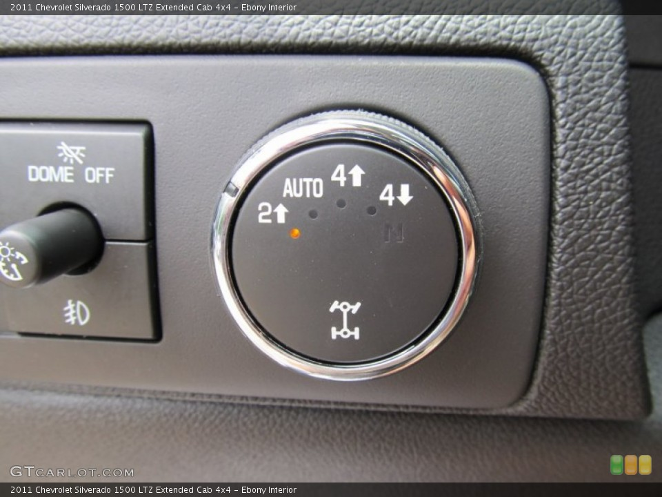 Ebony Interior Controls for the 2011 Chevrolet Silverado 1500 LTZ Extended Cab 4x4 #51001078