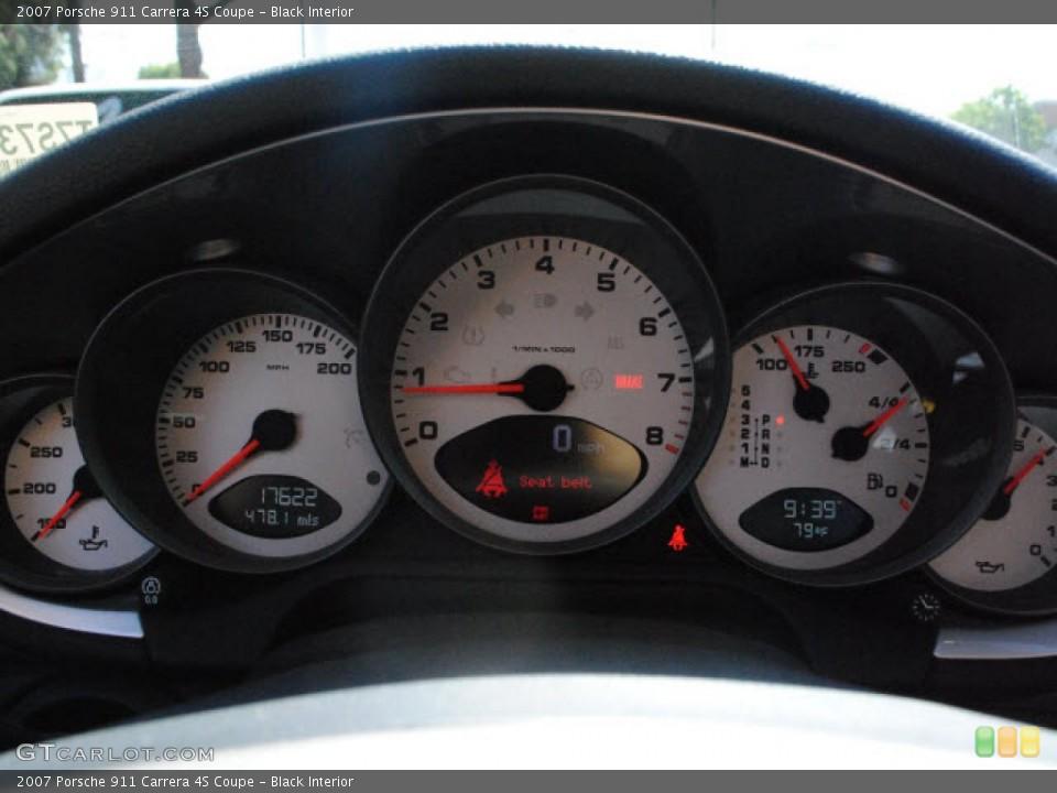 Black Interior Gauges for the 2007 Porsche 911 Carrera 4S Coupe #51017455