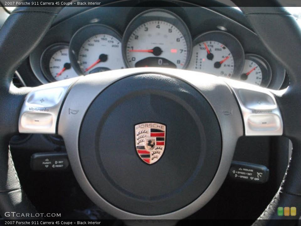 Black Interior Steering Wheel for the 2007 Porsche 911 Carrera 4S Coupe #51017467