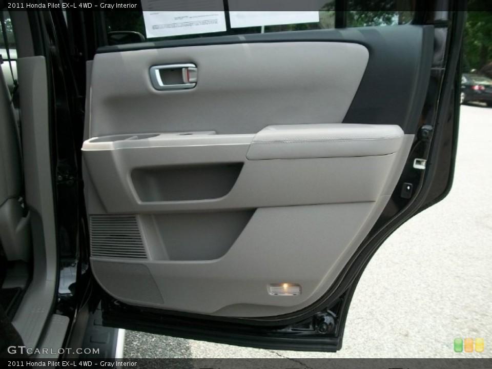 Gray Interior Door Panel for the 2011 Honda Pilot EX-L 4WD #51125211