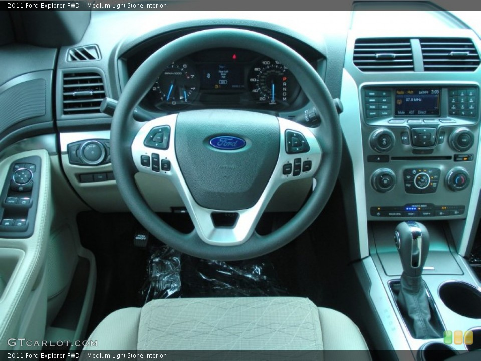 Medium Light Stone Interior Dashboard for the 2011 Ford Explorer FWD #51142820
