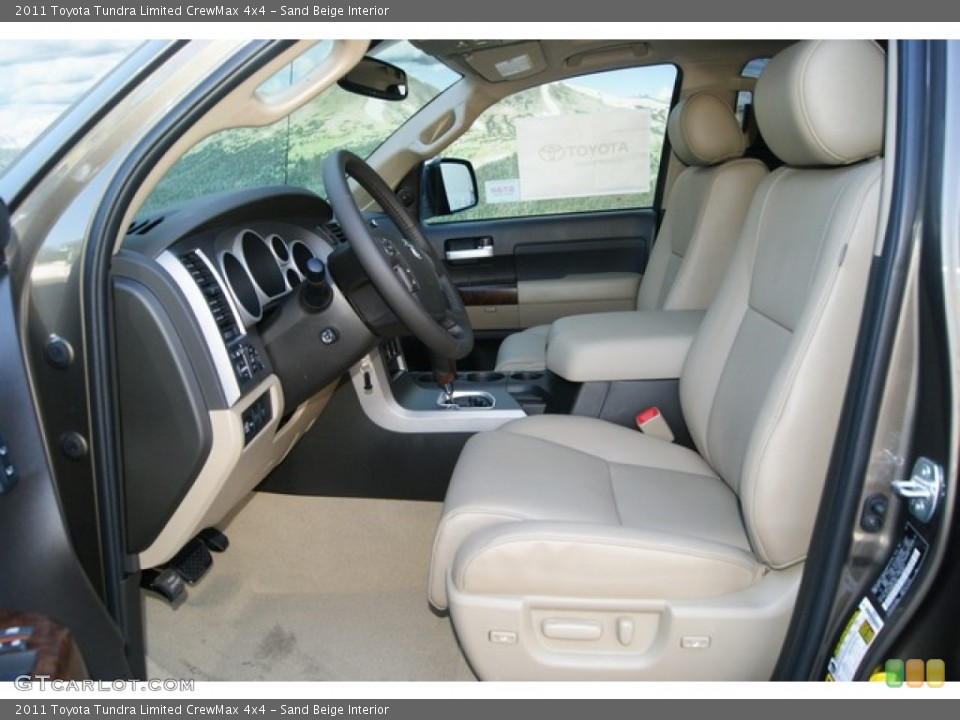 Sand Beige Interior Photo for the 2011 Toyota Tundra Limited CrewMax 4x4 #51251135