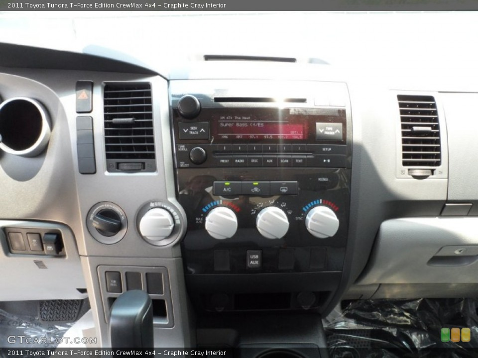 Graphite Gray Interior Controls for the 2011 Toyota Tundra T-Force Edition CrewMax 4x4 #51323083