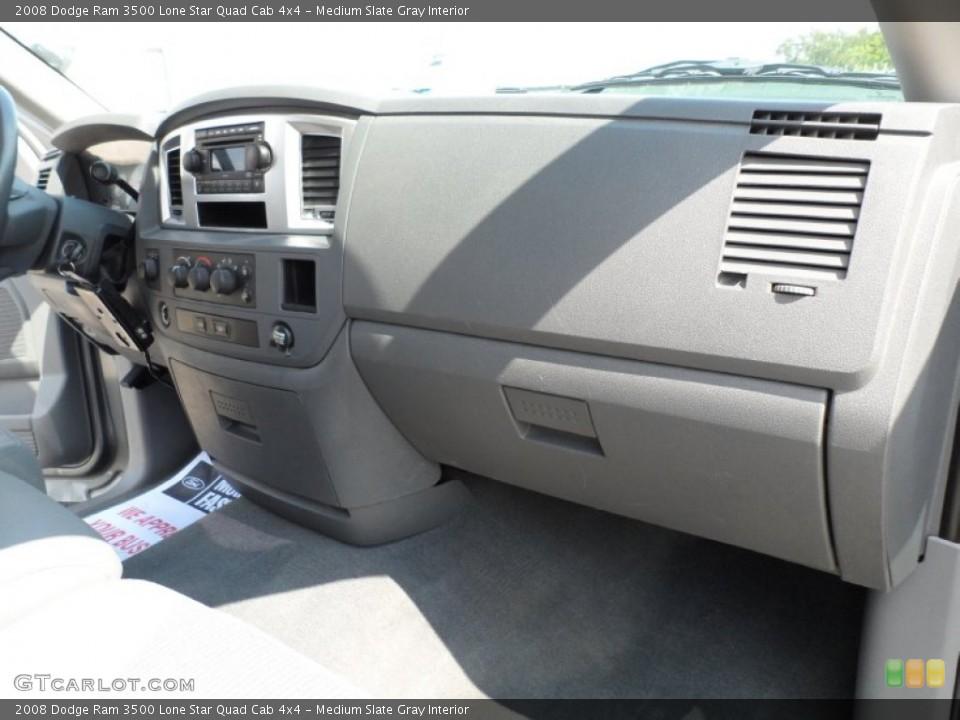 Medium Slate Gray Interior Dashboard for the 2008 Dodge Ram 3500 Lone Star Quad Cab 4x4 #51333841