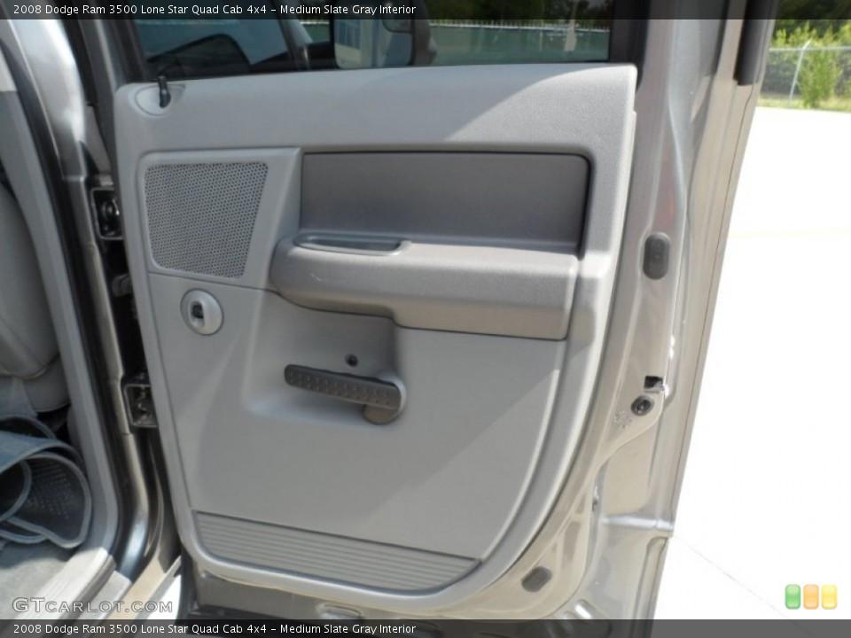 Medium Slate Gray Interior Door Panel for the 2008 Dodge Ram 3500 Lone Star Quad Cab 4x4 #51333859
