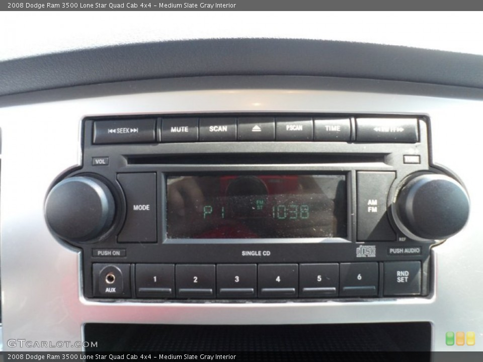 Medium Slate Gray Interior Controls for the 2008 Dodge Ram 3500 Lone Star Quad Cab 4x4 #51334015