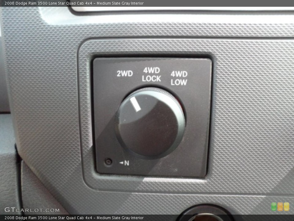 Medium Slate Gray Interior Controls for the 2008 Dodge Ram 3500 Lone Star Quad Cab 4x4 #51334066