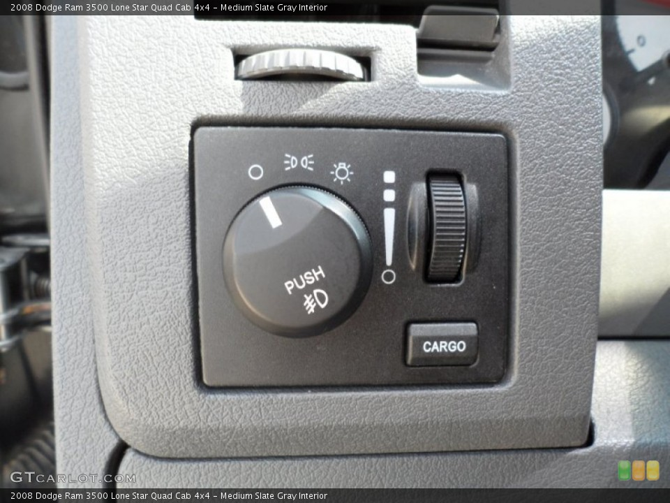 Medium Slate Gray Interior Controls for the 2008 Dodge Ram 3500 Lone Star Quad Cab 4x4 #51334135