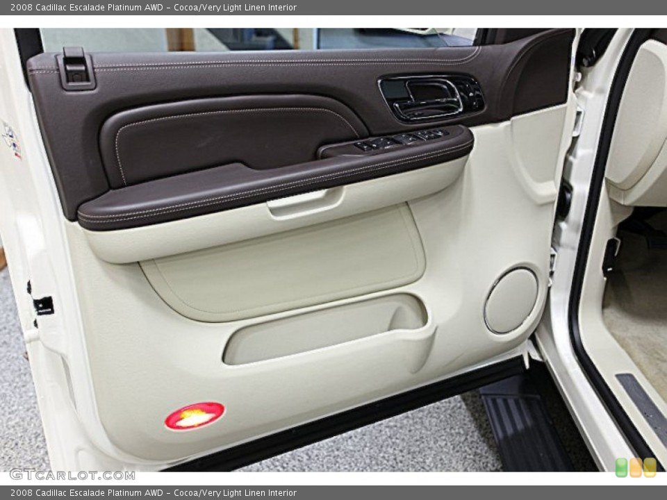 Cocoa/Very Light Linen Interior Door Panel for the 2008 Cadillac Escalade Platinum AWD #51437649