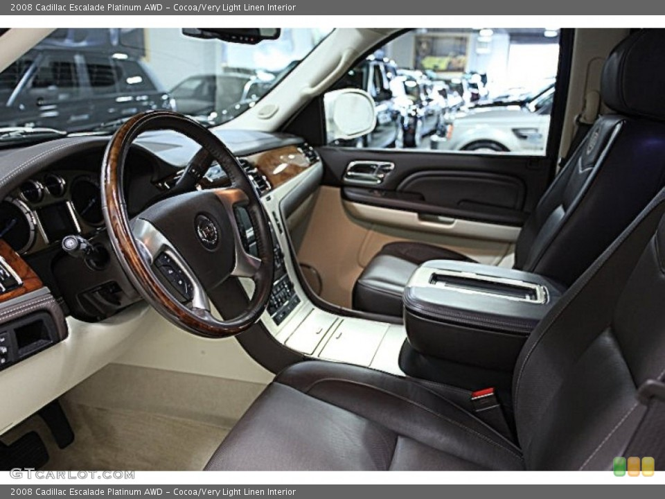Cocoa/Very Light Linen Interior Photo for the 2008 Cadillac Escalade Platinum AWD #51437661