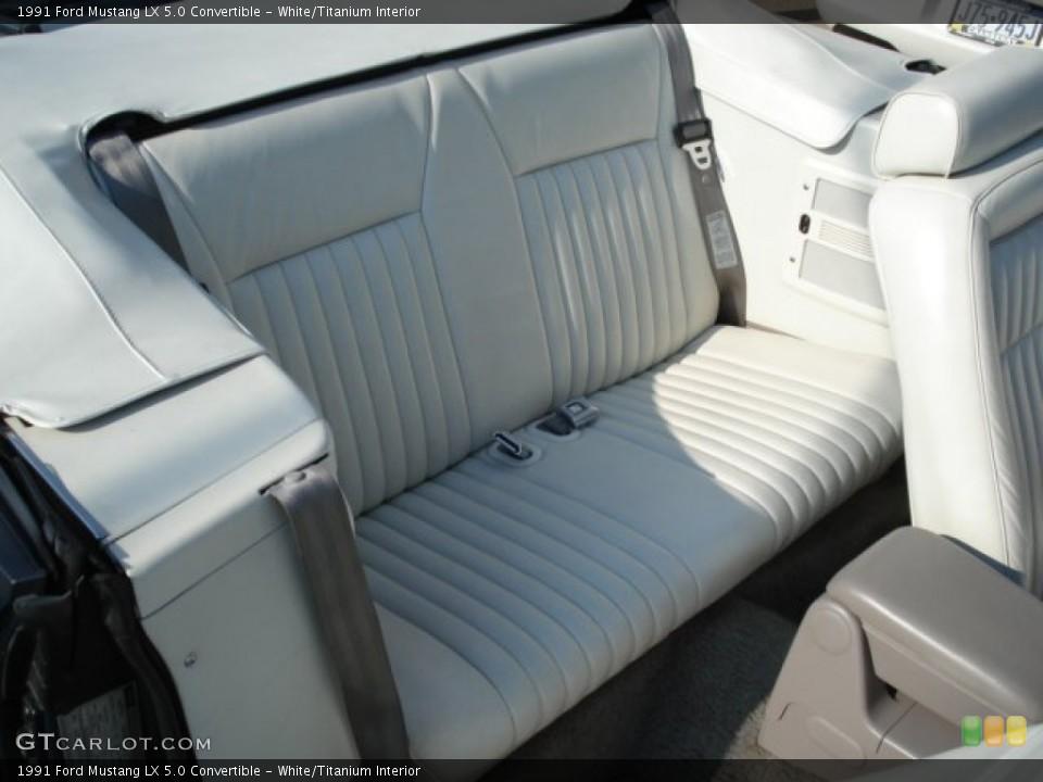 White/Titanium 1991 Ford Mustang Interiors