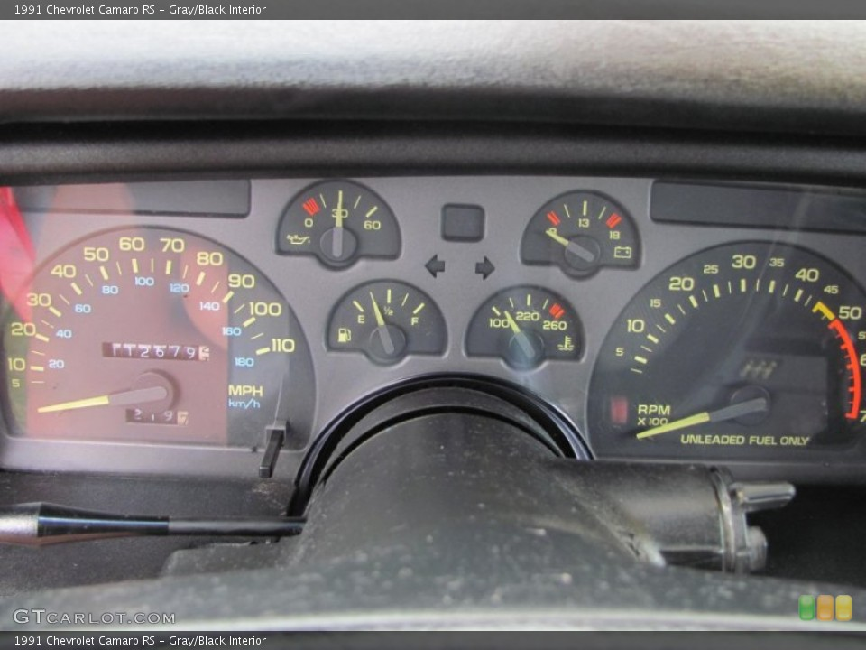 Gray/Black Interior Gauges for the 1991 Chevrolet Camaro RS #51441575
