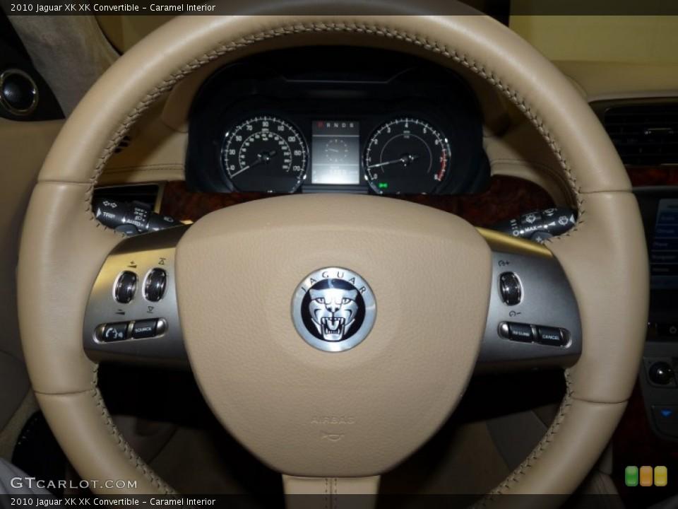 Caramel Interior Steering Wheel for the 2010 Jaguar XK XK Convertible #51504427