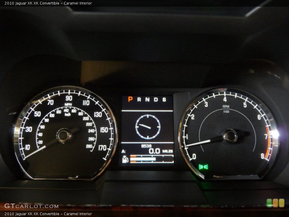 Caramel Interior Gauges for the 2010 Jaguar XK XK Convertible #51504442