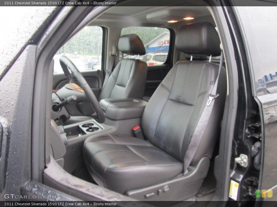 Ebony Interior Photo for the 2011 Chevrolet Silverado 1500 LTZ Crew Cab 4x4 #51525520