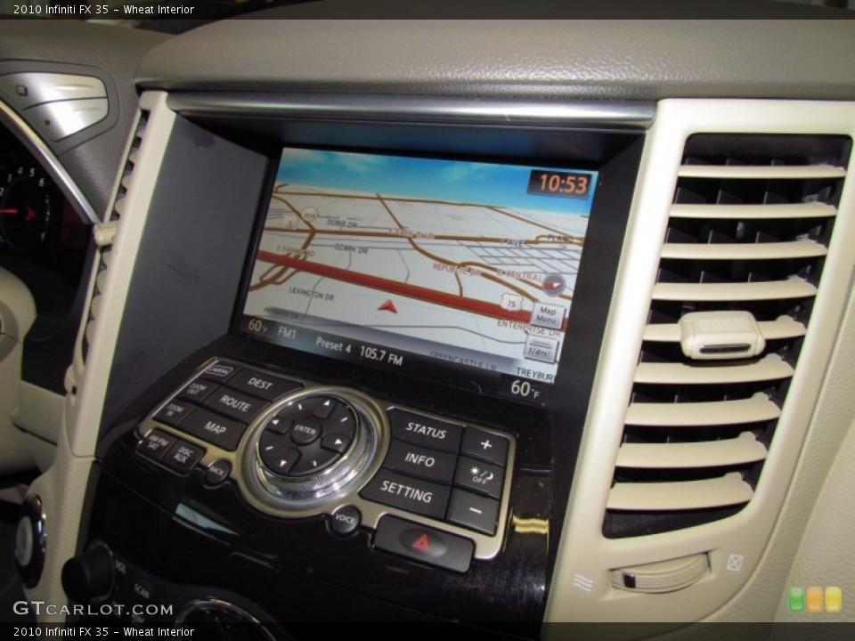 Wheat Interior Navigation for the 2010 Infiniti FX 35 #51560841