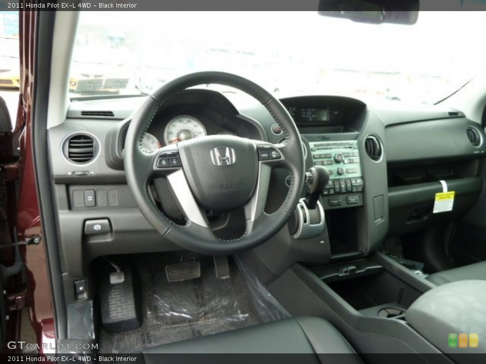 Black Interior Dashboard for the 2011 Honda Pilot EX-L 4WD #51614983