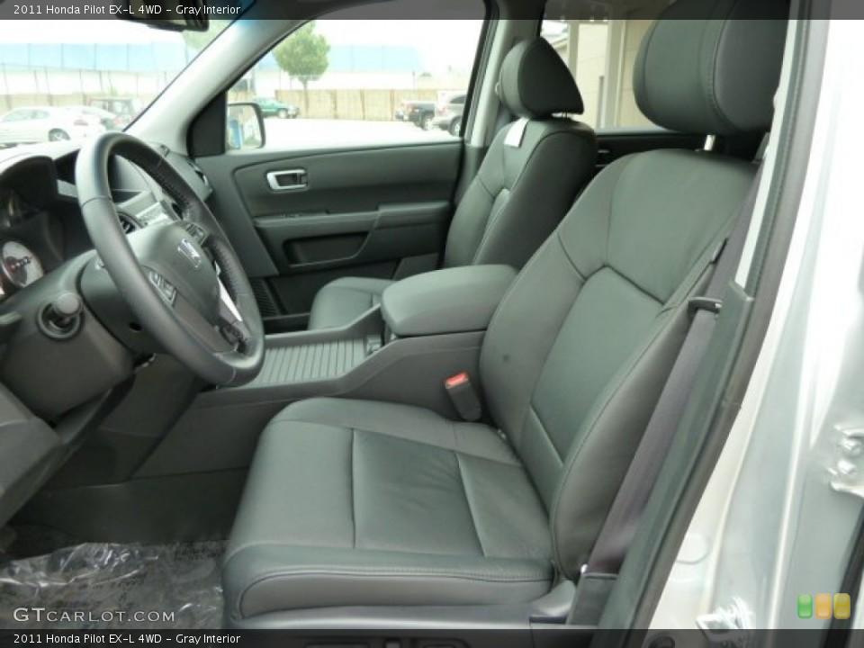 Gray Interior Photo for the 2011 Honda Pilot EX-L 4WD #51668761