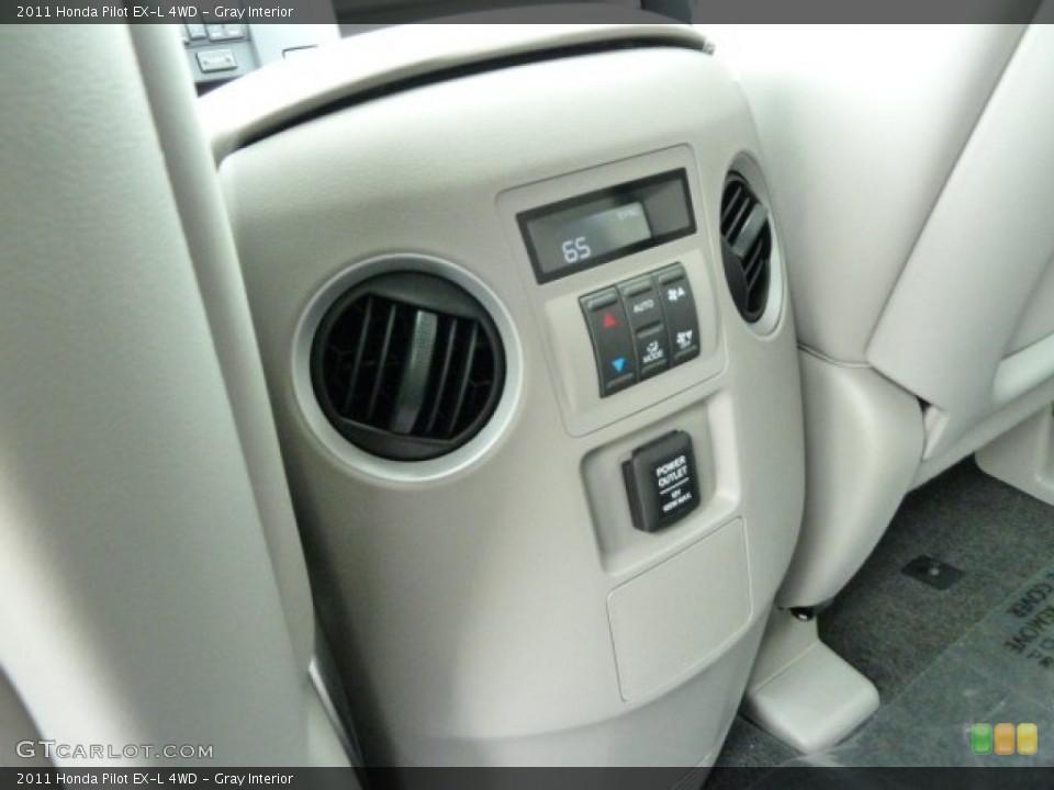 Gray Interior Controls for the 2011 Honda Pilot EX-L 4WD #51669067