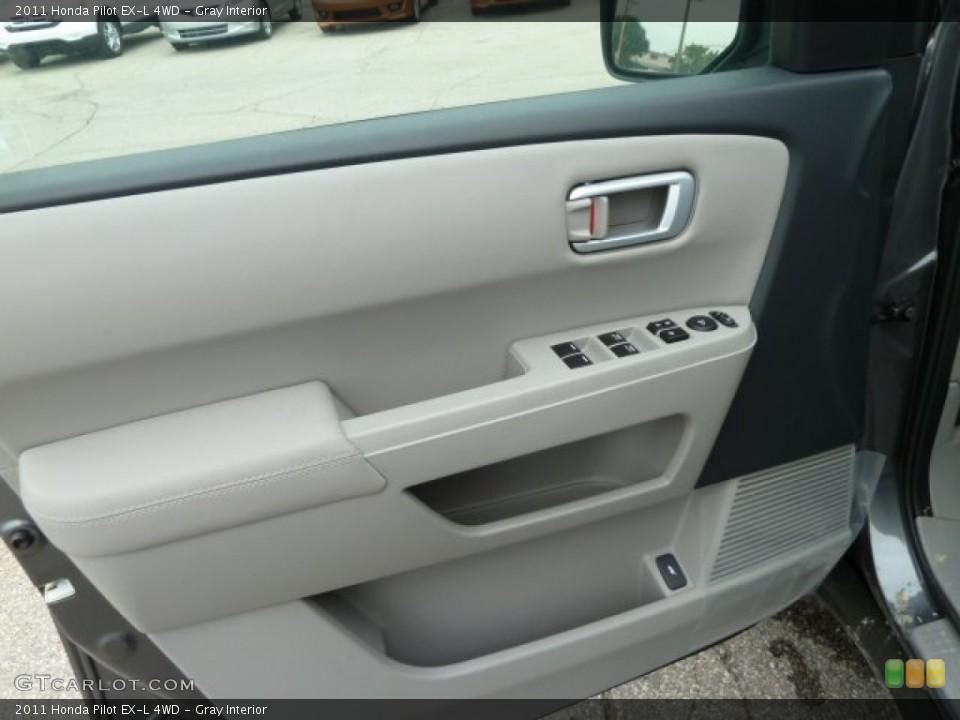 Gray Interior Door Panel for the 2011 Honda Pilot EX-L 4WD #51669070