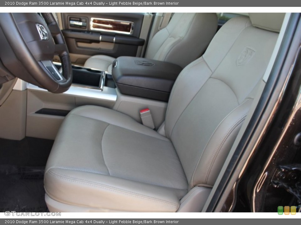 Light Pebble Beige/Bark Brown Interior Photo for the 2010 Dodge Ram 3500 Laramie Mega Cab 4x4 Dually #51700489