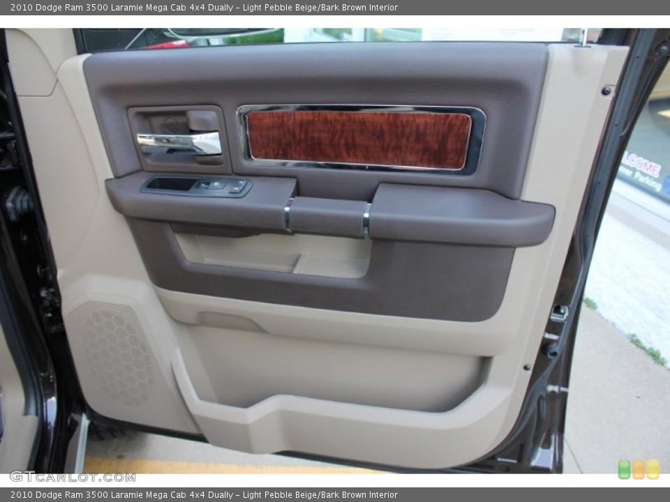 Light Pebble Beige/Bark Brown Interior Door Panel for the 2010 Dodge Ram 3500 Laramie Mega Cab 4x4 Dually #51700612