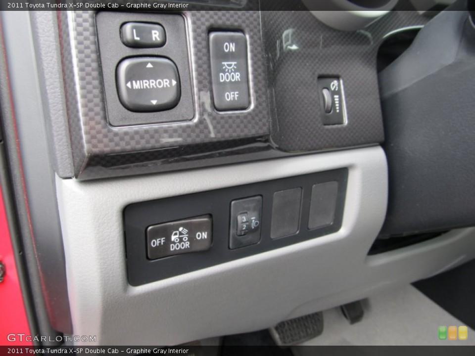Graphite Gray Interior Controls for the 2011 Toyota Tundra X-SP Double Cab #51743041